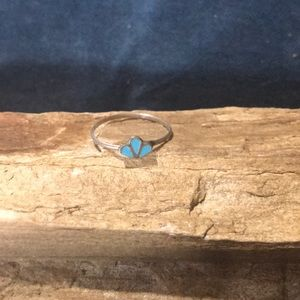 Old Pawn Sterling Silver and Turquoise Ring